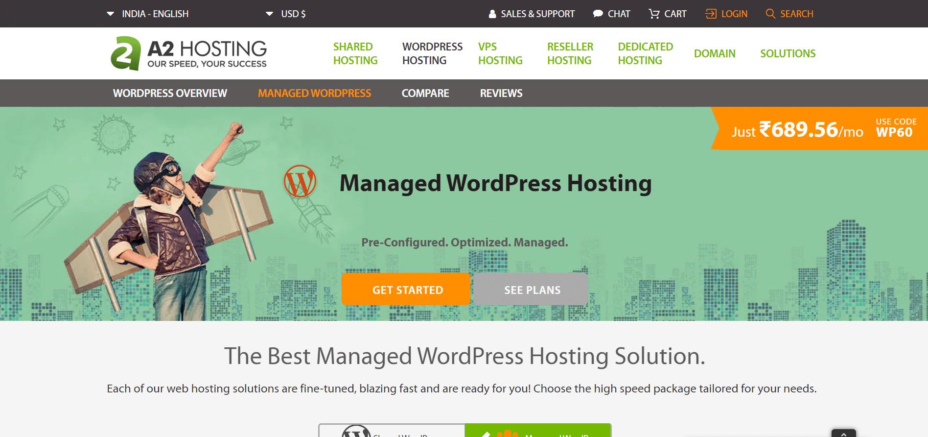 A2-Hosting web hosting provider