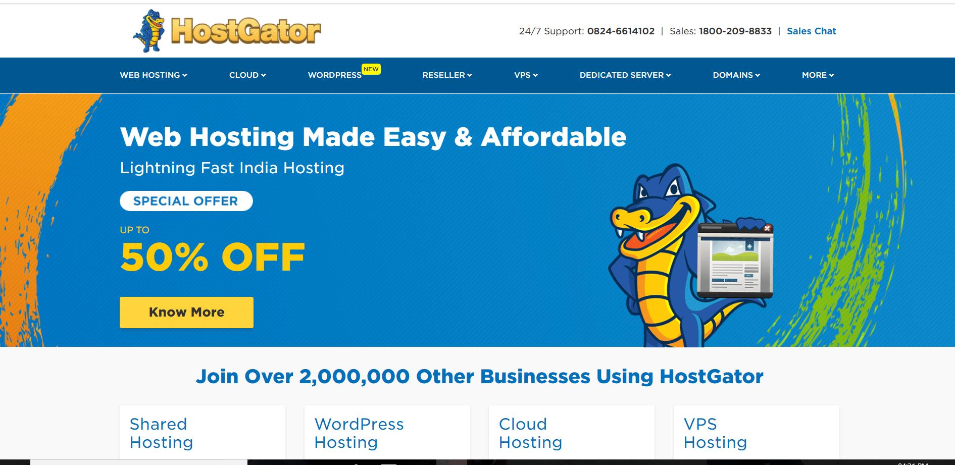 Hostgator best hosting provider